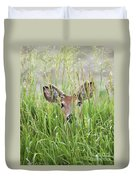 Deer In Hiding Duvet Cover