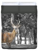 Deer In The Forest  Duvet Cover