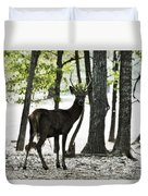 Deer In The Woods Duvet Cover