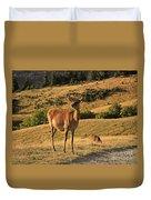 Deer On Mountain 2 Duvet Cover