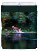 Deer Splash Duvet Cover