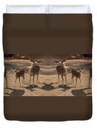 Deer Symmetry  Duvet Cover