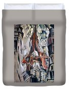 Delaunay: Eiffel Tower, 1910 Duvet Cover