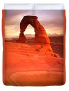 Delicate Arch At Sunset Duvet Cover