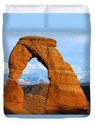 Delicate Arch Closeup Duvet Cover