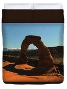 Delicate Arch Under Moonlight Duvet Cover