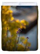 Delicate Bursts Of Purple Duvet Cover