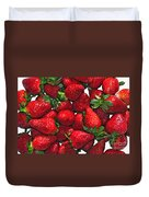 Deliciously Sweet Strawberries Duvet Cover