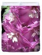 Delphinium Named Magic Fountains Lilac Pink Duvet Cover