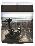 Demonstration Of A Bomb Disposal Robot Duvet Cover