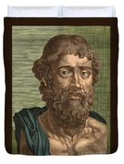 Demosthenes, Ancient Greek Orator Duvet Cover by Photo Researchers