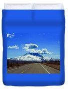 Denali Highway Duvet Cover