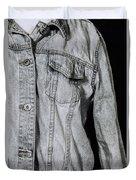 Denim Jacket Duvet Cover by Joana Kruse