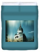 Denton County Courthouse Duvet Cover by Angela Wright