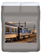 Departing Into The Sunset  Duvet Cover