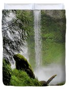 Descent To The Falls Duvet Cover