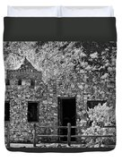 Desert Castle Black And White Duvet Cover