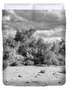 Desert Cloud Bw Palm Springs Duvet Cover