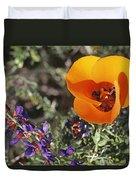 Desert Mariposa Tulip & Coulters Duvet Cover