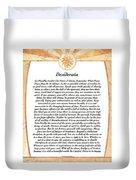 Desiderata Aztec Sunstone Duvet Cover