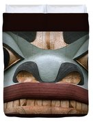 Detail Of A Totem Pole Duvet Cover