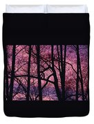 Detail Of Bare Trees Silhouetted Duvet Cover