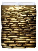 Detail Of Cobblestones, Dublin, Ireland Duvet Cover