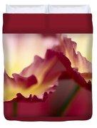 Detail Of Crimson Colored Rose Petals Duvet Cover