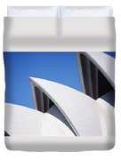 Detail Of The Roof Of The Sydney Opera Duvet Cover