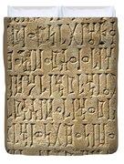 Details Of Sabaean Inscriptions At The Duvet Cover