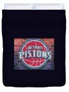 Detroit Pistons Mosaic Duvet Cover