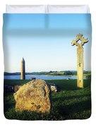 Devenish Island, Co Fermanagh, Ireland Duvet Cover