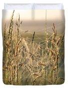 Dew And Spider Webs Duvet Cover