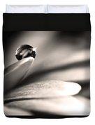 Dew Drop In Flower Petal Duvet Cover