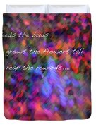 Dew Haiku Duvet Cover by ME Kozdron