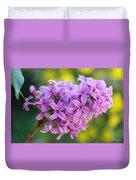 Dewdrops On Lilacs Duvet Cover