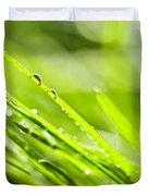 Dewy Green Grass  Duvet Cover