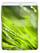 Dewy Green Grass  Duvet Cover by Elena Elisseeva