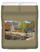 Dexter's Grist Mill Duvet Cover by Catherine Reusch Daley