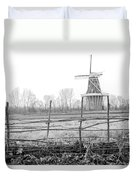 Dezwaan Windmill In Holland Michigan During November Duvet Cover