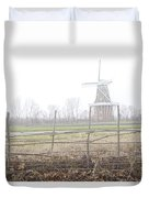 Dezwaan Windmill In Holland Michigan No.232 Duvet Cover