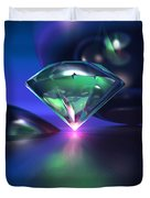 Diamond On Purple Duvet Cover