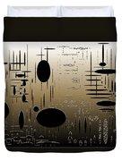 Digital Dimensions In Brown Series Image 2 Duvet Cover