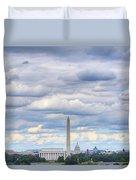 Digital Liquid - Clouds Over Washington Dc Duvet Cover