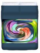 Digital Swirl Of Color 2001 Duvet Cover