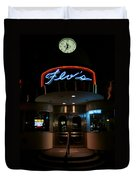Diner At Night Duvet Cover