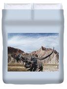 Dino's In The Badlands Duvet Cover