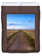 Dirt Road Through The Prairie Duvet Cover