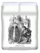 Disraeli Cartoon, 1876 Duvet Cover