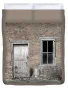 Distressed Facade Duvet Cover